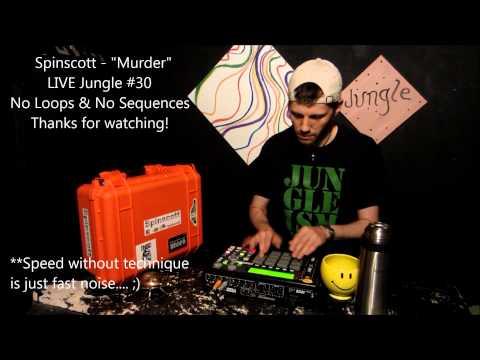 "Spinscott - ""Murder"" Live Finger Drumming"